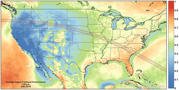 Total Solar Eclipse Weather Forecasts - Us total eclipse 2017 map