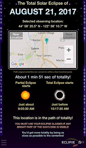 Total Solar Eclipse 2017  Get the app