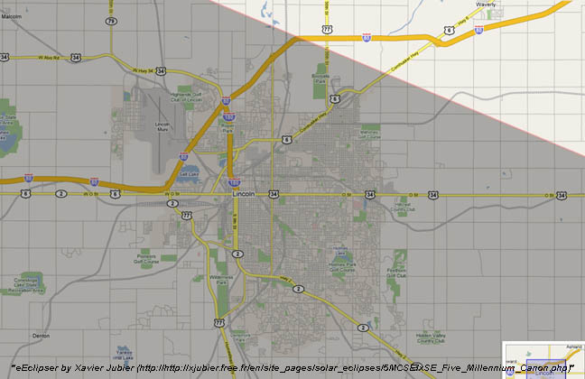 Total Solar Eclipse Maps Of The Path - Show nebraska on us map