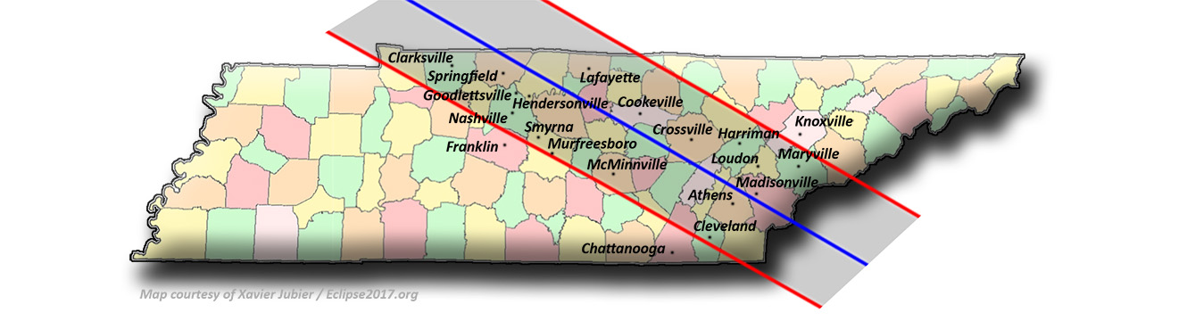 Total Solar Eclipse 2017 - Tennessee local Circumstances