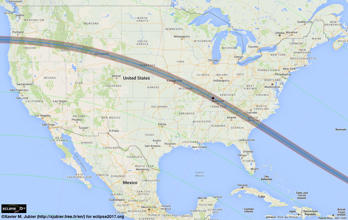 Total Solar Eclipse 2017  Maps of the Path