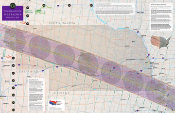 Total Solar Eclipse 2017  State Maps of the Path by Michael Zeiler