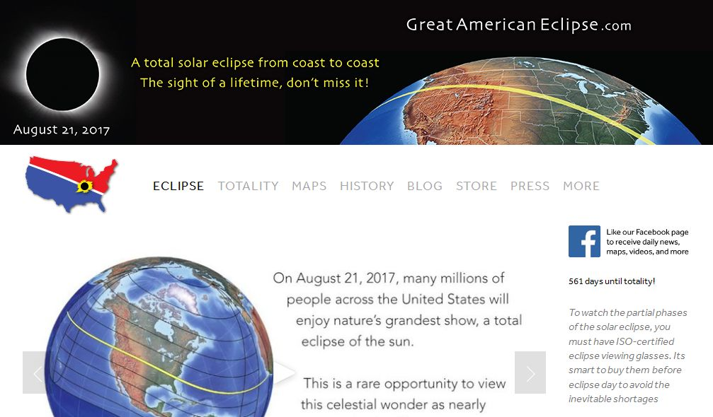 total solar eclipse 2017 - Links
