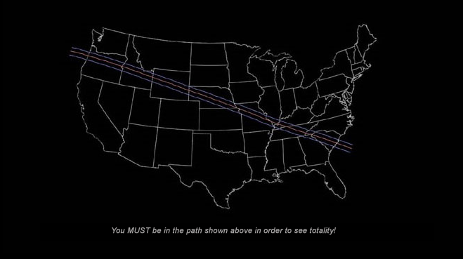 Path of the 2017 eclipse totality