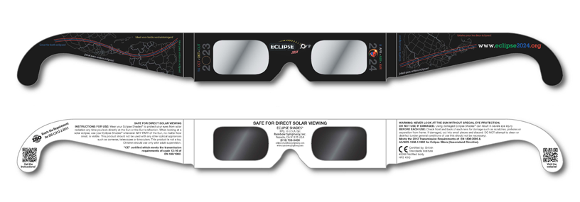 2 PAIRS Solar Eclipse Glasses US 2017  CE ISO FDA Certified Standard Viewing