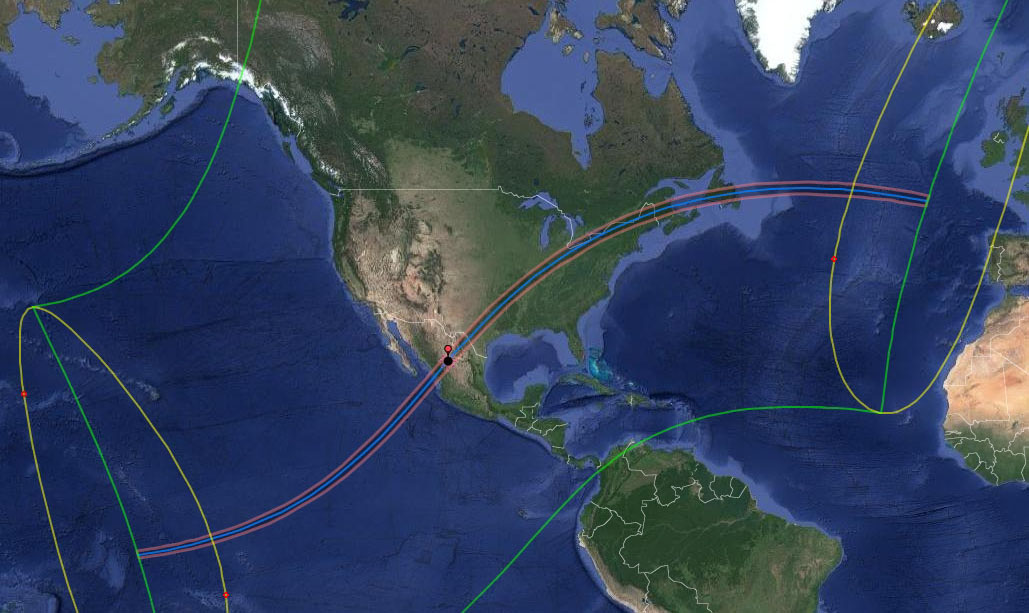 Google Interactive Eclipse Map Total Solar Eclipse 2024   Xavier's Interactive Google Map